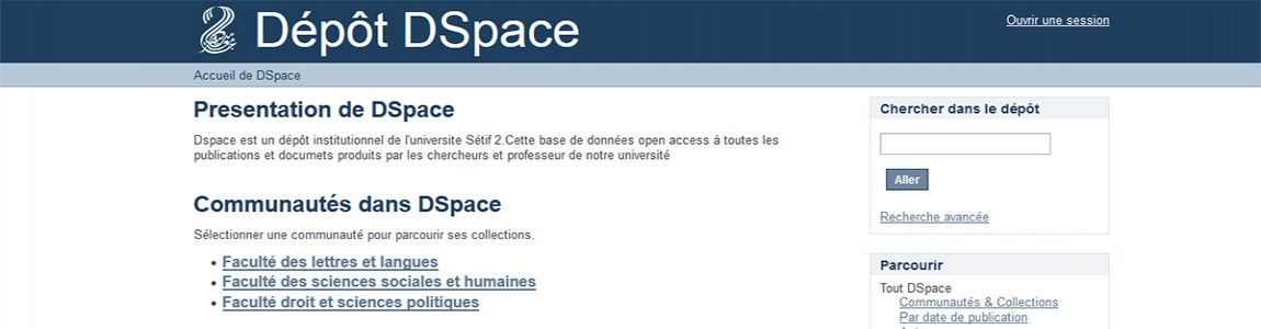 Plateforme DSpace