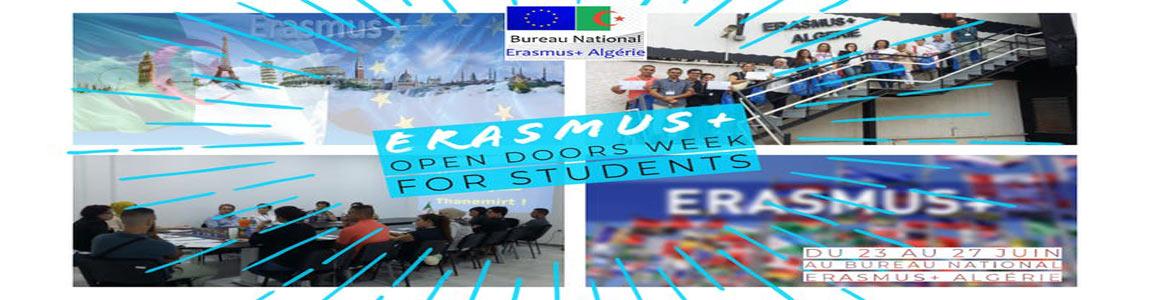 +Erasmus أسبوع الأبواب المفتوحة للطلاب